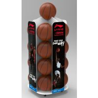 足球壁挂展示架广州厂家定制PVC发泡板体育用品展柜货架足球篮球陈列架