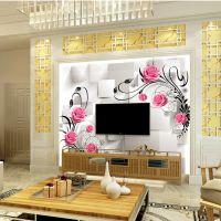 艺术瓷砖背景墙 现代简约客厅沙发 大理石石材护墙板 电视背景墙