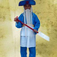 民间演出道具 旱船道具 舞台表演 特价船夫服装 帽子 划桨 长胡子