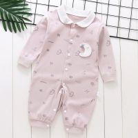 婴儿秋装衣服薄新生的儿和尚服男睡衣春秋哈衣潮满月宝宝连体衣女