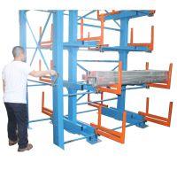 杭州管材怎么放不占地 伸缩式管材货架 可以伸缩的悬臂货架