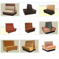 定做防火板软垫餐厅实木卡座,简约咖啡厅沙发JB-FF051