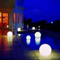 LED发光球圆球灯防水草坪灯充电户外落地灯