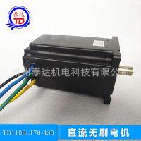 TD110BL170直流无刷电机48V3000转2000W6.5N.m液压泵无人船电机