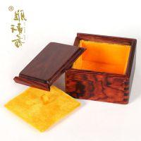 礼品红酸枝首饰盒红木手饰品盒收纳盒 复古实木小盒子古典木质印