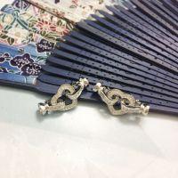 珍珠项链手链扣 锆石心形珍珠吊坠创意扣diy配件