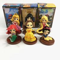 日本童话公主系列白雪公主美人鱼爱丽丝Q版手办公仔模型玩偶摆件