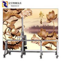 爱普生智能墙体彩绘机 汉皇墙体喷绘机现场施工