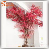 高端仿真樱花树 唯美艺术厂家定制 大型橱窗客厅装饰许愿假树