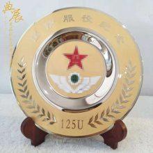 吉林大型公益活动感谢牌 年度合作伙伴纪念牌 纯铜八一纪念品定制厂家