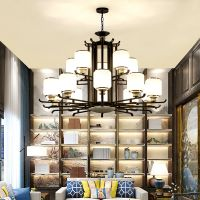 新中式吊灯客厅灯具中国风餐厅个性大气家用现代简约卧室书房灯饰