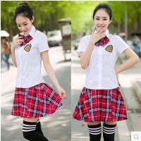 2017新款韩版女学生装高中日本英伦学院风校服JK制服套装夏装短裙