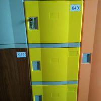 湖南彩色艳丽塑料组合储物柜 体育馆澡堂abs寄存柜子