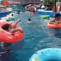 帆布蓄水池 环保便携游泳池 游泳池加工 明乐定做戏水池
