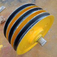 定制各种规格尺寸 定滑轮组 热轧滑轮组 带轴承轧制滑轮组