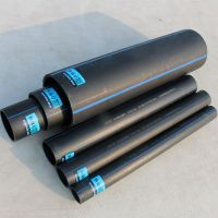 厂家批发dn90PE黑色给水管 市政饮水工程管道供应