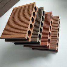 140*25圆孔塑木地板户外公园园林栈道休闲平台景区学校