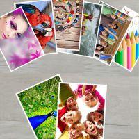 相纸三寸照片纸三寸耗材适用光照喷墨彩色照片相册打印打印像片尺