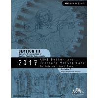ASME 锅炉及压力容器规范2019版第III卷英文纸质版征订