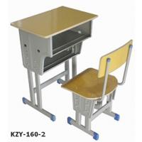 德兴课桌椅双人可升降培训班学校课桌环保学生课桌椅厂家直销定做