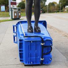 大量批发 240L环卫塑料垃圾桶 可挂车 学校 商场 户外分类垃圾桶