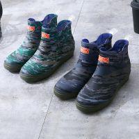 2018韩版男士雨鞋加绒可拆卸雨靴洗车钓鱼厨房防水防滑一体塑胶鞋