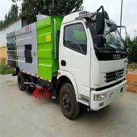 供应东风多利卡8吨道路清扫车 10方3800轴距干湿两用洗扫车支持定做