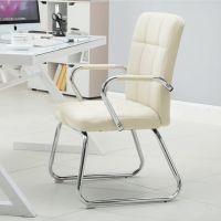 前台办公椅简易一体皮可升降白色升降椅电脑椅吧台单人弓形椅黑色