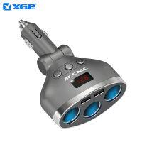XGE一拖三点烟器多功能带开关一分二USB手机汽车载充电器插头座