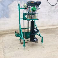 重庆地钻机使用方法 启航汽油大功率地钻机 围栏钻眼打洞机