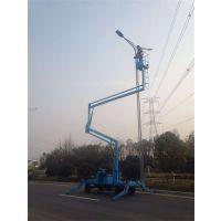 万宁曲臂式升降平台 自行高空作业平台 车载液压式升降机 厂家定制
