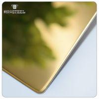 厂家供应201不锈钢镜面板 8k钛金镀色不锈钢板材