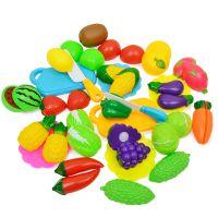 厂家直销新款女孩过家家玩具蔬菜切切乐 仿真厨房切水果儿童玩具