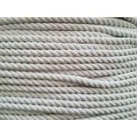 供应10MM棉纱绳一批 纯白色三股棉纱混纺打包绳