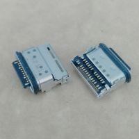 USB 3.1 TYPE-C 24P防水母座 板上双贴SMT 带接待 舌片外露 防水等级IPX67