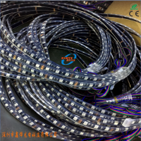 鑫烨光电直供5050RGB软灯带 黑板灌胶IP68防水灯条 带控制器