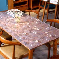 PVC软桌垫 软玻璃桌垫透明磨砂 防水防油茶几台桌垫水晶软板批发