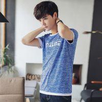 圆领短袖t恤男潮新款休闲体恤打底衫韩版夏季个性学生休闲衣服