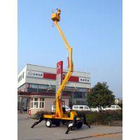 供应10.5米柴油机电机液压升降平台 自行走升降机