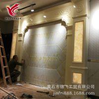 欧式罗马柱背景墙仿石材客厅装饰背景电视墙技术培训教学