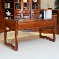 侧屉键盘框柱桌 玉林家用办公桌 梧州栗木中式家具