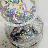 厂家供应异形DIY用钻石形金葱粉3MM规格用材环保pet适用于出口外贸