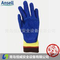 安思尔 80-600防滑耐磨手套天然橡胶抗割手套杜邦Kevlar