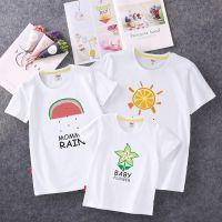 亲子装新款短袖T恤厂家直销纯棉夏装情侣装家庭装体恤上衣儿童装