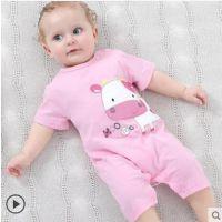 男女宝宝新生婴幼儿连体衣服0-3个月夏季纯棉短袖8个月宝宝夏装
