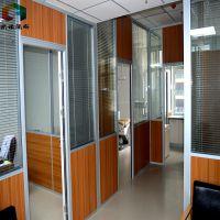 徐州办公室隔断墙,欧诺百叶玻璃隔断设计,江苏玻璃隔断墙安装