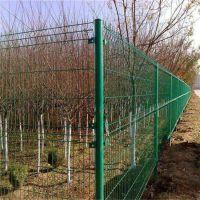 果园养殖圈地护栏网 公路双边丝护栏网 绿色铁丝网