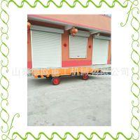 重型货物平面牵引运输车 实心轮胎安全有保障 大型仓库拖板车