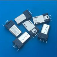 180度立式插板 MICRO 5P夹板公头 长度8.6 夹板0.8 单脚直插 手机-创粤