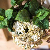 定做仿真绣球叶绿植摆件套装插花配叶花艺装饰清新自然美式